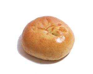 森の木パン 170円:山菜やきのこ類、たまねぎが入ったクリーミーなとろーりグラタンパン。