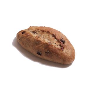 レーズンとくるみとクランベリーの天然酵母パン 190円
