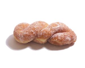 ツイストドーナツ 110円:米油を使って揚げた、ふわっと軽い大人気のドーナツです。